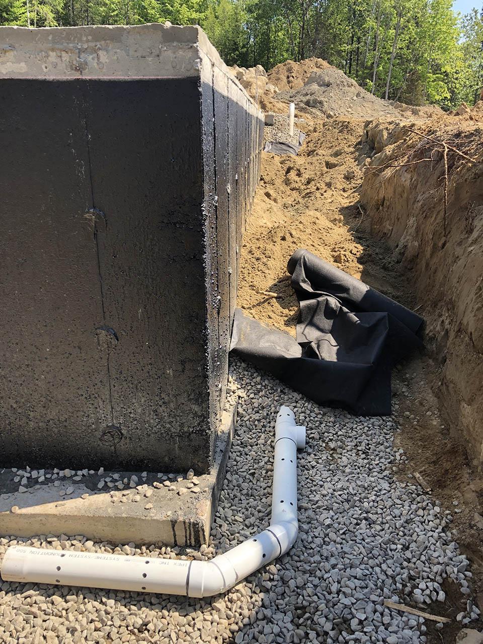 Installation et réparation de drain français à Joliette - Imperméabilisation L.L à St-Alphonse-Rodriguez